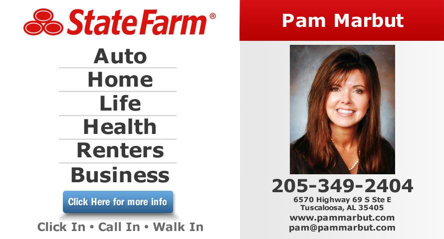 Tuscaloosa, AL pam marbut state farm insurance agent Find pam