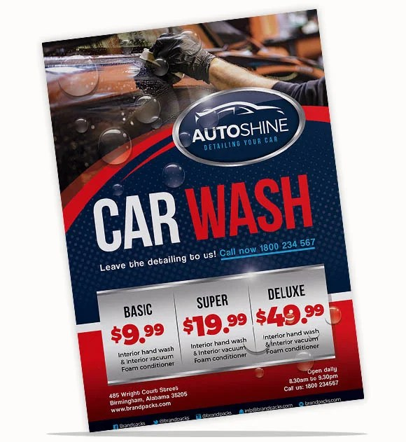 110+ Flyer Templates in PSD, Ai \ Vector - BrandPacks - car wash flyer template