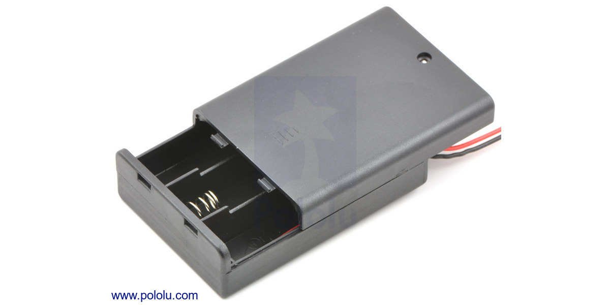 Pololu 3 Aa Battery Holder Enclosed With Switch