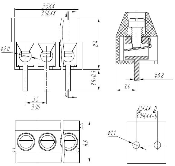 screw terminal 3 5mm wiring diagram