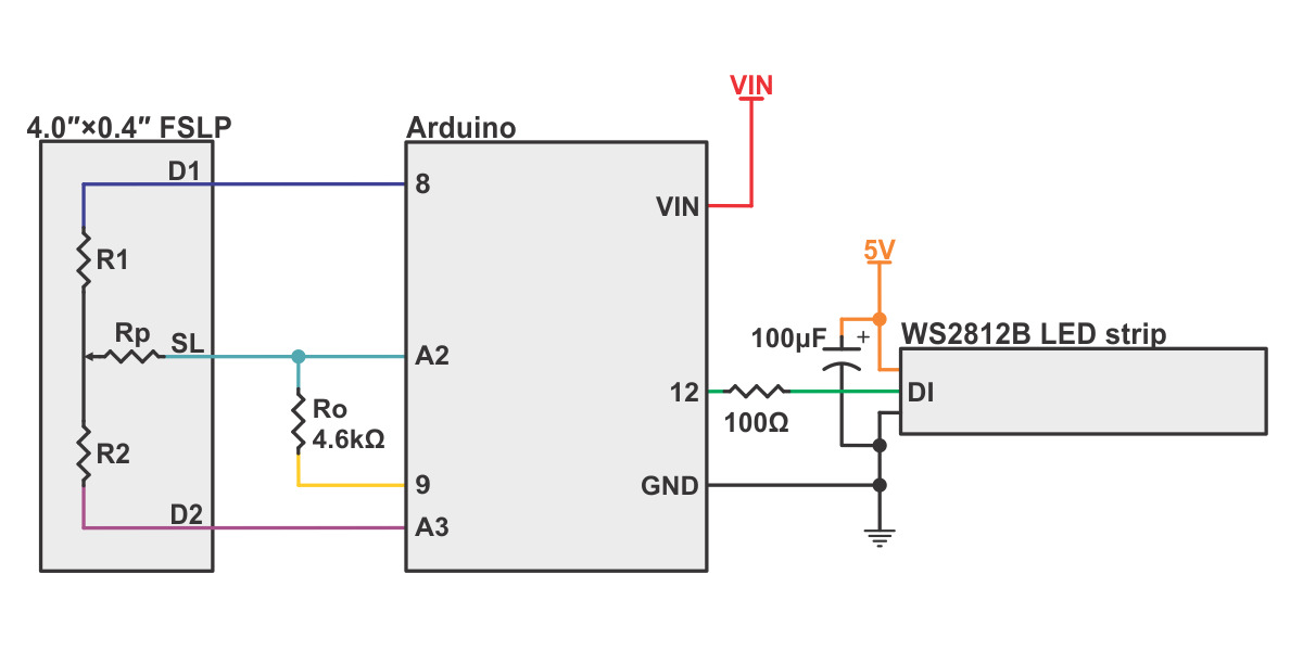 linear potentiometer wiring diagram