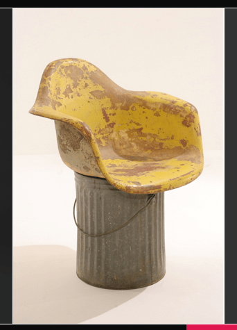 Wills Eames Shell Chair on a Trash Can