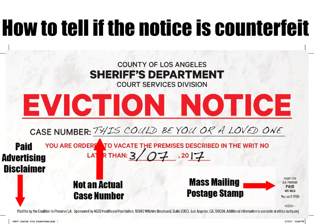 Document LA Sheriffu0027s Department sends cease and desist over Yes - eviction notice