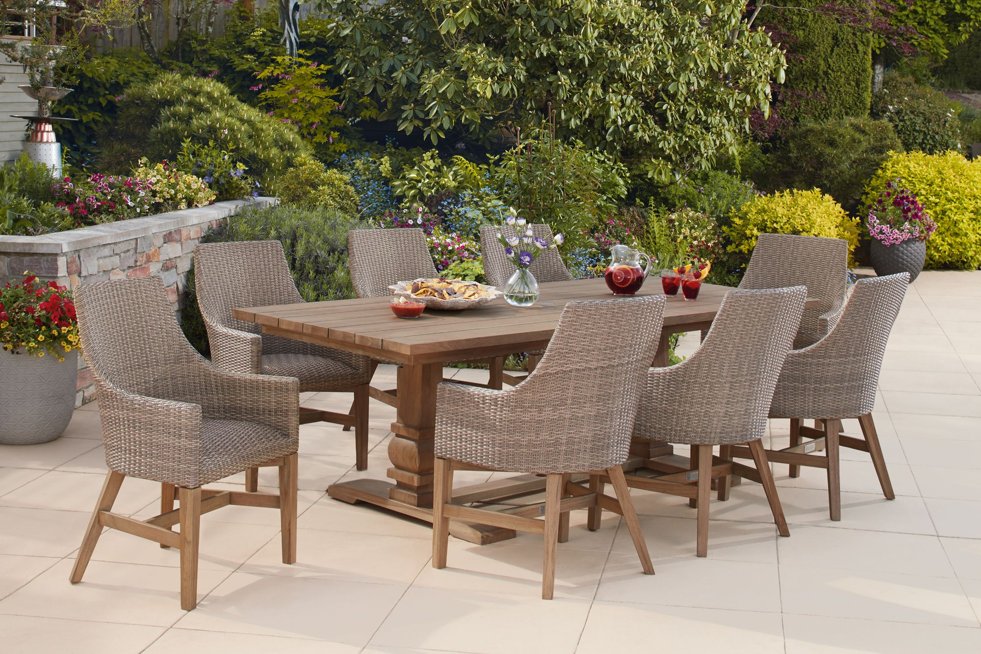 9 Piece Outdoor Dining Set 9 Piece Teak Dining Set