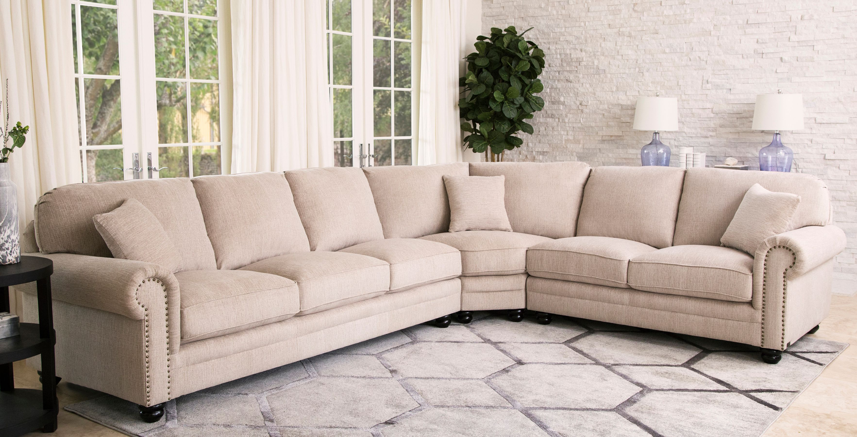 Sofa Service Deana Fabric Sectional