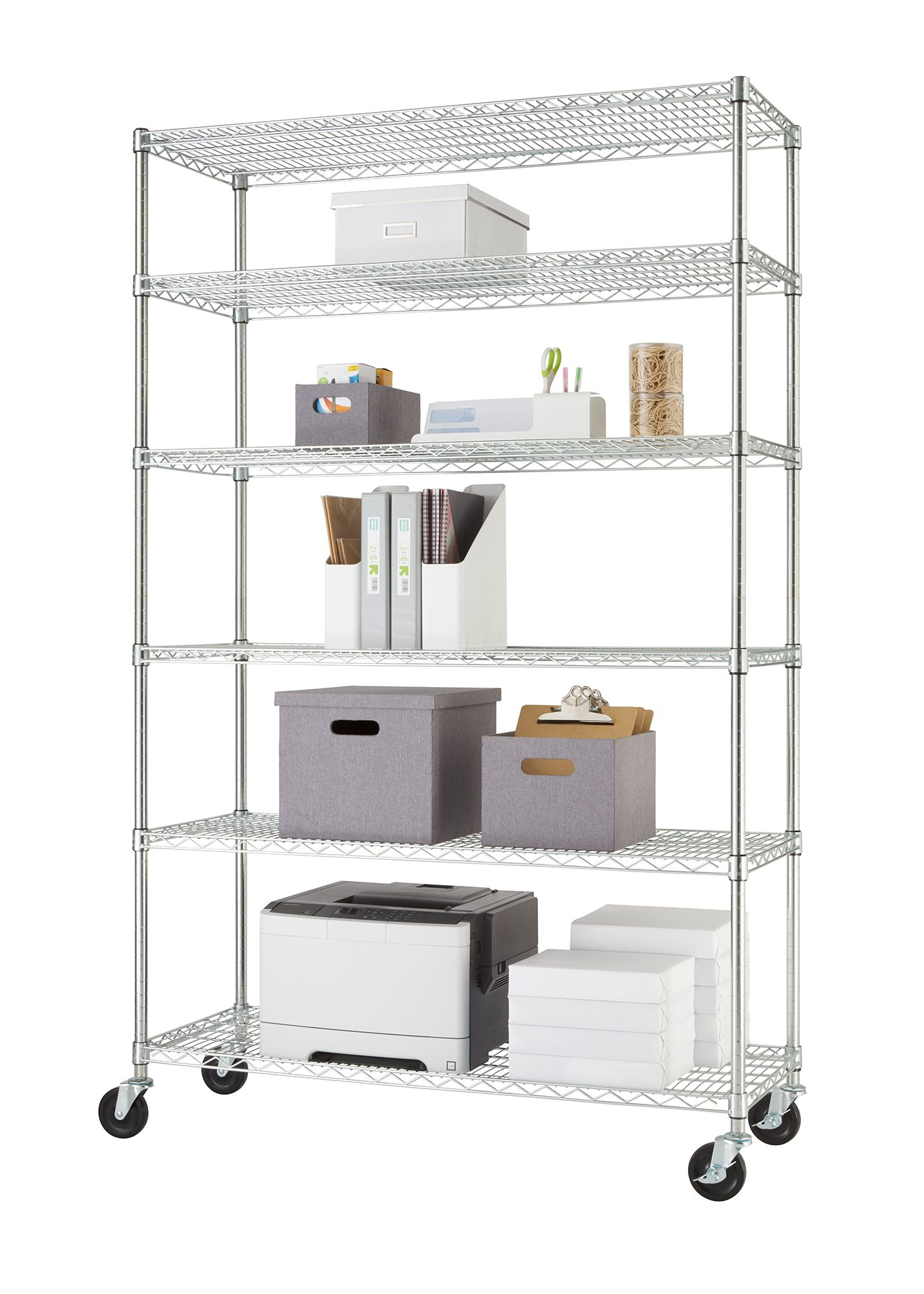 Metal Shelving Trinity Nsf 6 Tier Wire Shelving Rack 48