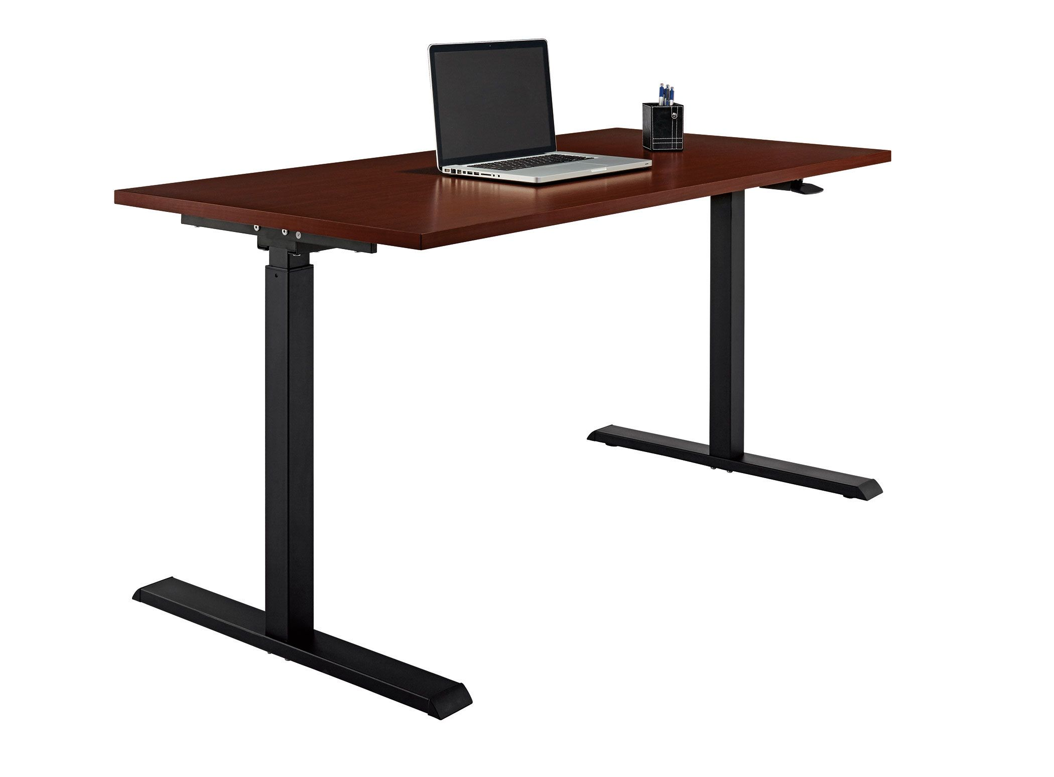 Matching Office Desk Accessories Realspace Magellan Pneumatic Stand Up Height Adjustable Desk Classic Cherry Item 102866