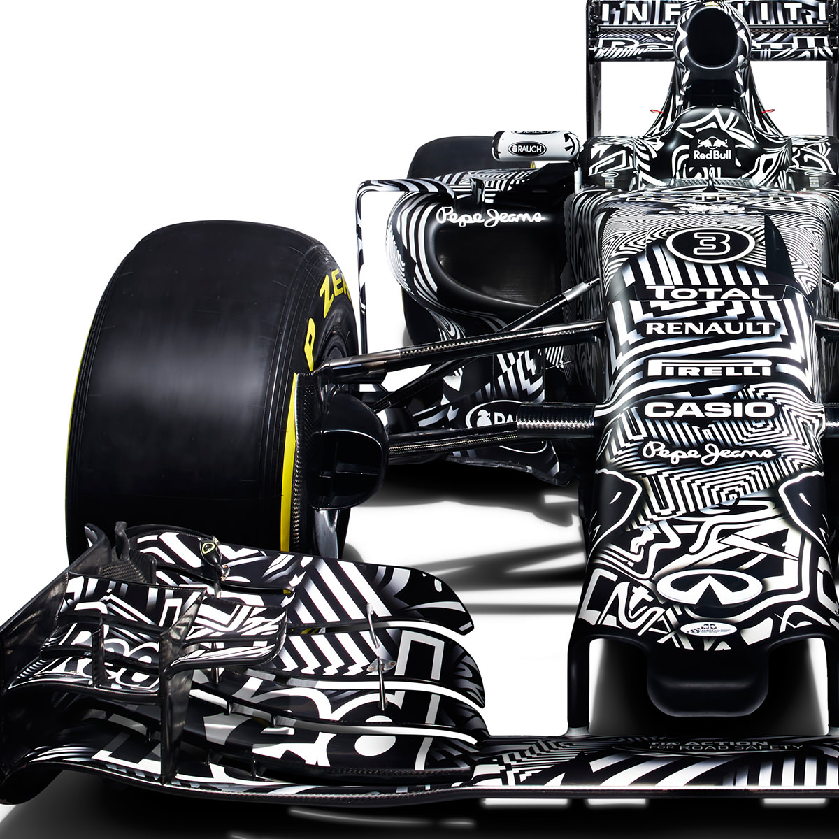 Red Bull Rb11 Red Bull Rock Jerez With Psychedelic Test Livery Black And