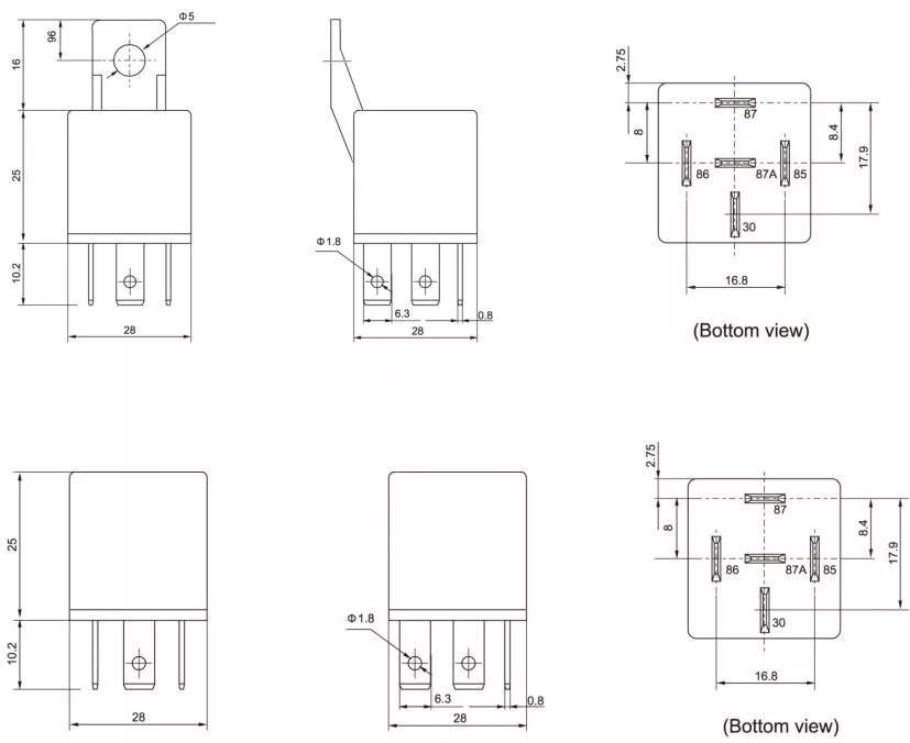 wiring diagram latching relay