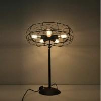 Cool Industrial retro style fan shape bedside table lamp ...