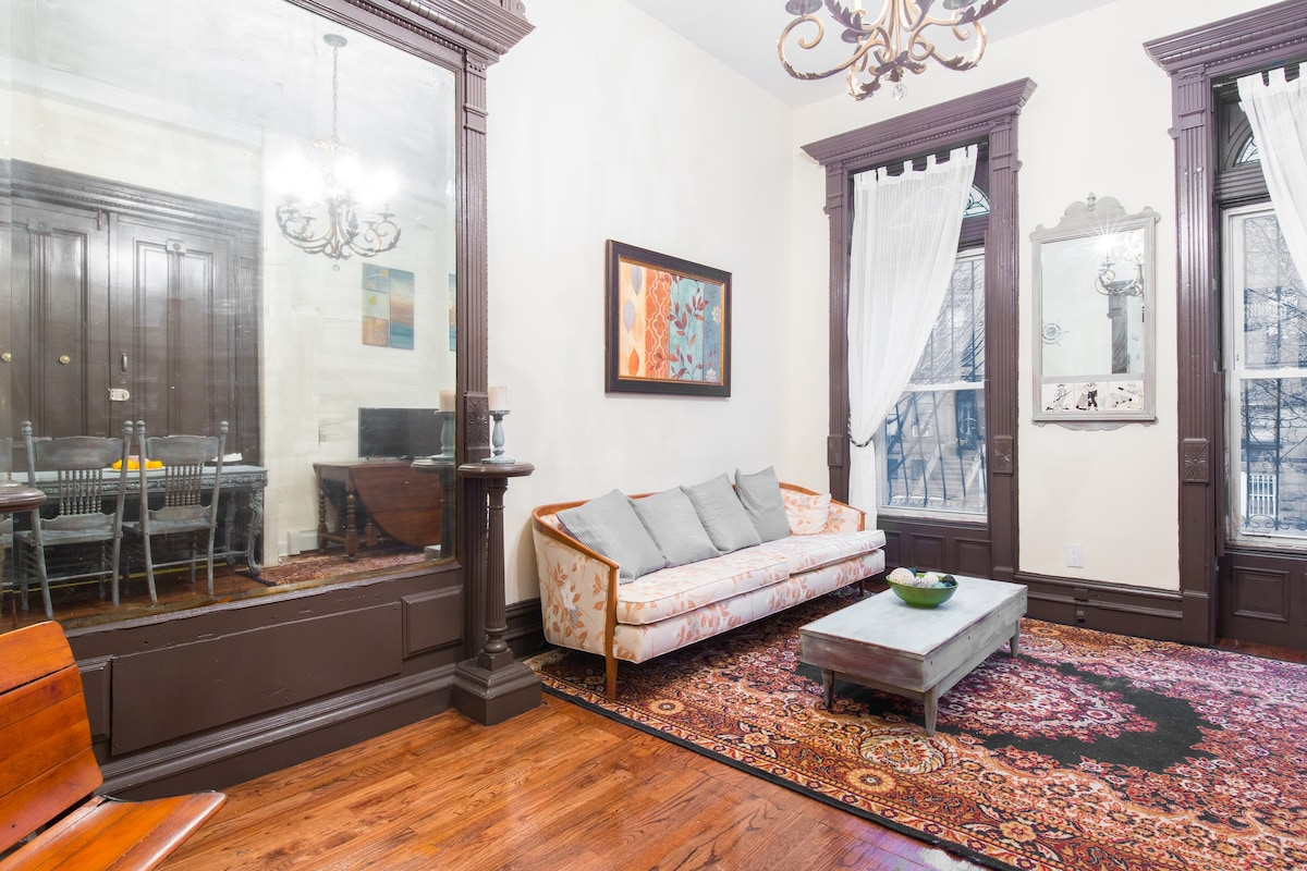 Spacious Private Brownstone Apt