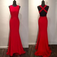 Red Prom Dress, Sexy Prom Dress, Backless Prom Dress