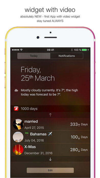 Keep Old Calendar Events On Iphone How To Stop Your Iphone Or Ipad From Deleting Old Calendar 1000 Days Countdown Love Event On The App Store