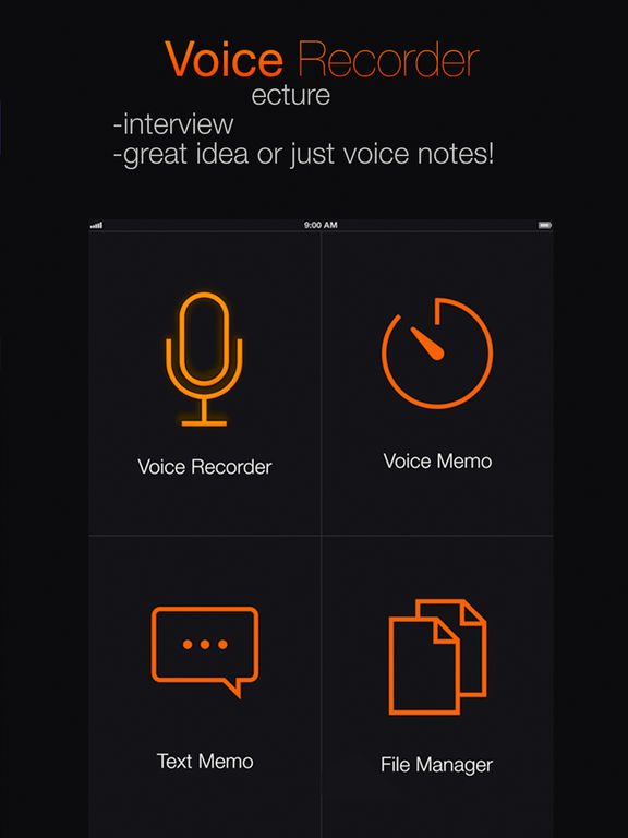 ボイスレコーダー無料 - インタビュアーと学生のためのスマート音声記録ユーティリティ Screenshot