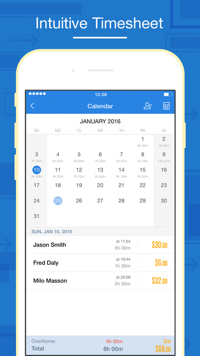 Hours Keeper Pro - Timesheet, Tracking  Billing IPA Cracked for iOS