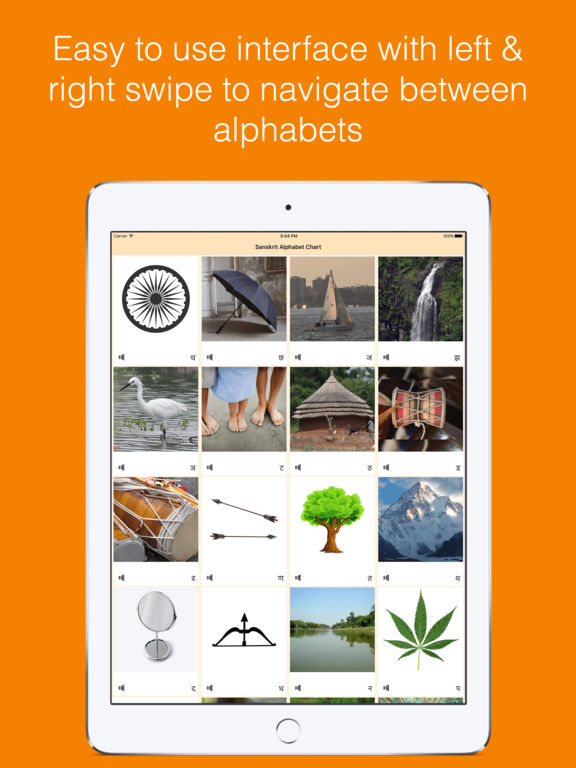 Sanskrit Alphabet Chart - Pronounce  Identify By Mandar Apte