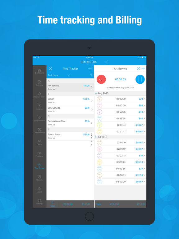 Invoice Wiz Pro - Quick Invoices Maker and Manager, Time Tracking