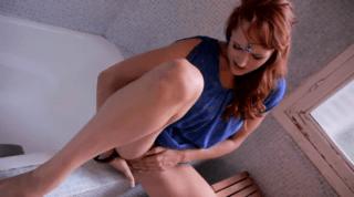 Too Horny Redhead Masturbating