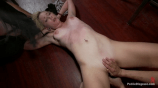 Blonde Disgraced In Bar