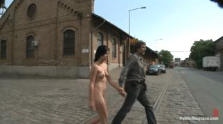 Euro Babe Gets Fucked, Then Made To Walk Across Bridge
