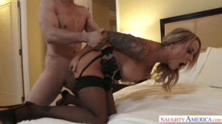 Exciting Mistress Dicked Deep Doggy Style Sex