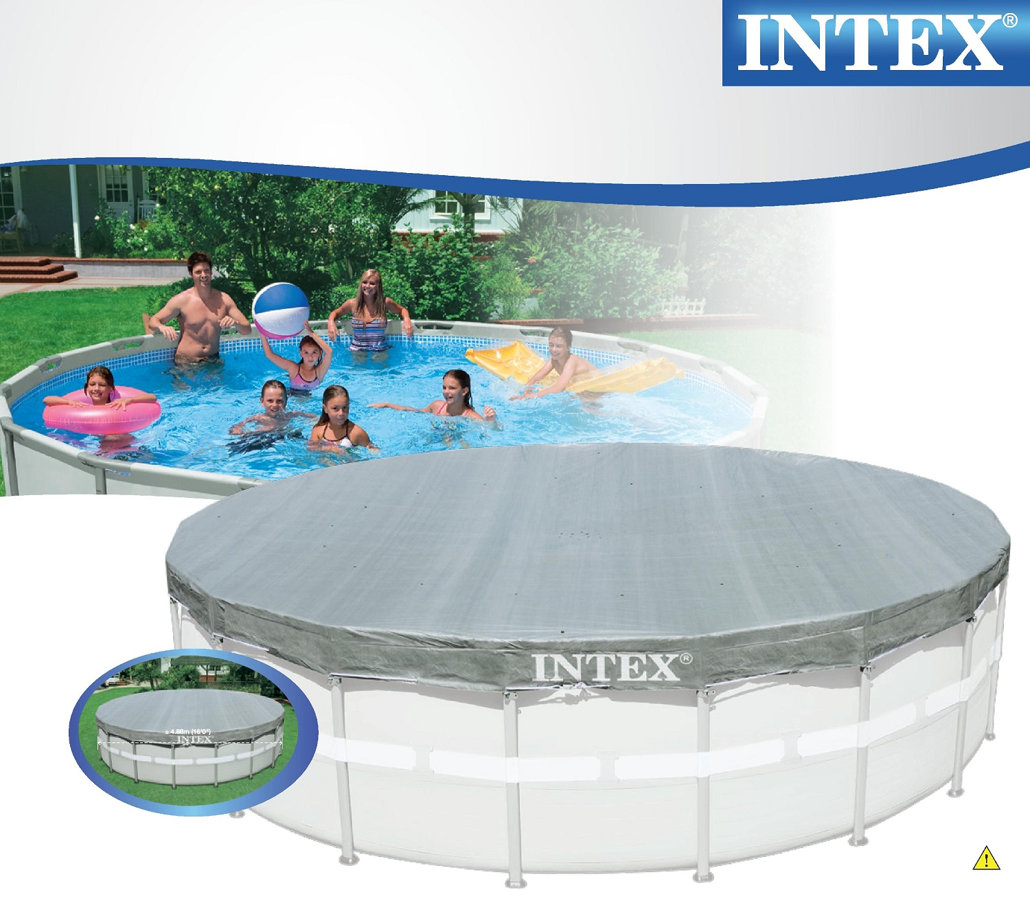 Abdeckplane Easy Pool 488 Intex 28040 Swimming Pool Deluxe Uv Abdeckplane Frame Pool