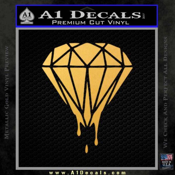 Drippin Diamond: Dripping Diamond D1 Decal Sticker » A1 Decals