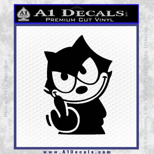 felix the cat the finger decal sticker a1 decals