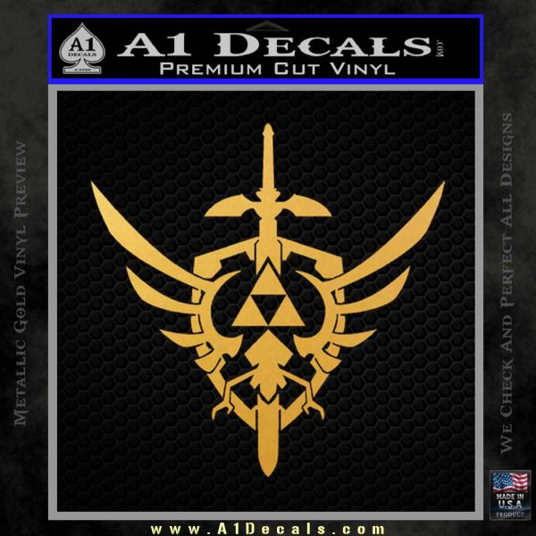 Zelda Skyward Sword Decal Sticker Gold Vinyl