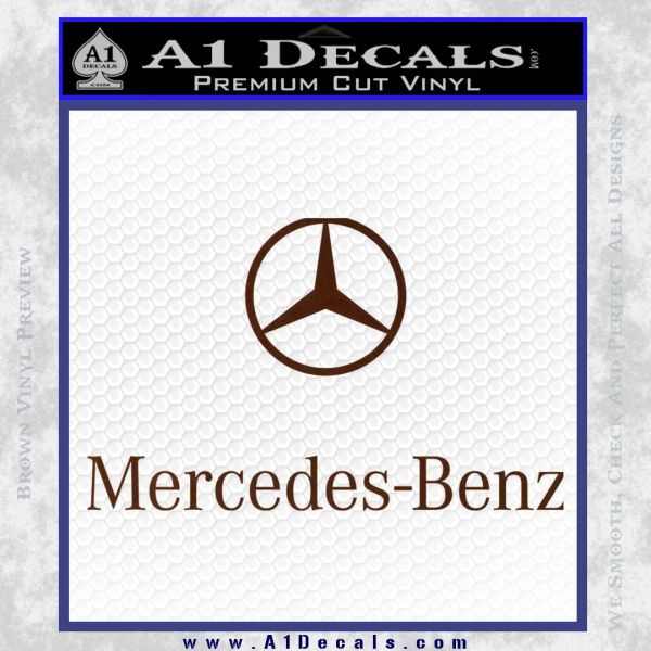 Mercedes benz logo stacked decal sticker a1 decals for Mercedes benz logo stickers