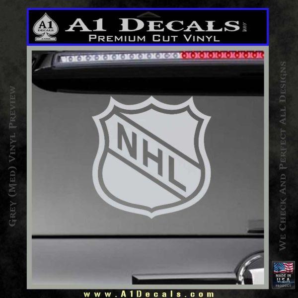 NHL Shield D1 Decal Sticker ? A1 Decals