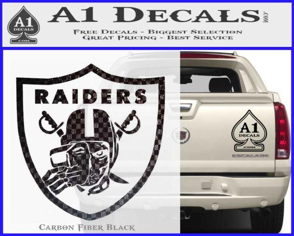 Raiders Skull Decal