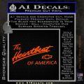 Chevy Heartbeat Of America Decal Sticker Orange Emblem