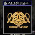 Pacific Rim Crimson Typhoon Decal Sticker Gold Vinyl 120x120