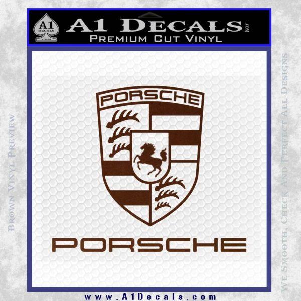 porsche decal sticker full emblem logo 187 a1 decals