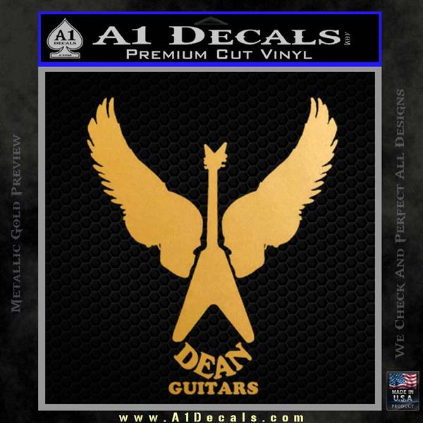 dean guitars wings logo vinyl decal sticker 187 a1 decals