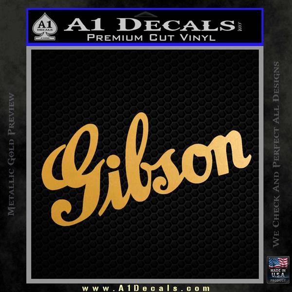 gibson guitars logo decal sticker d2 187 a1 decals