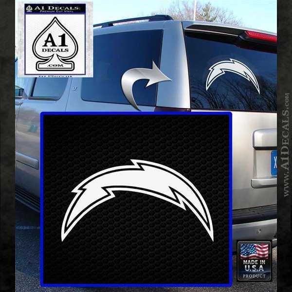 San Diego Chargers Nfl Bolt Decal Sticker 187 A1 Decals