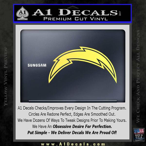 San Diego Chargers Bolts: San Diego Chargers NFL Bolt Decal Sticker » A1 Decals