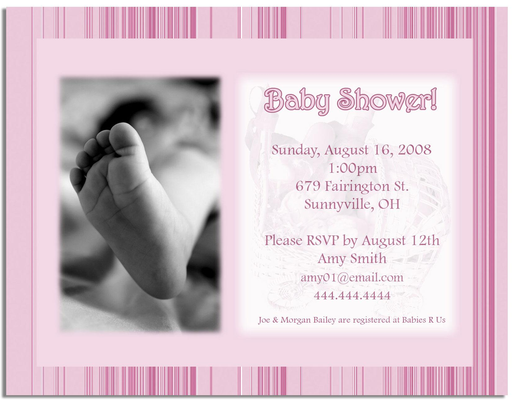 baby shower program templates