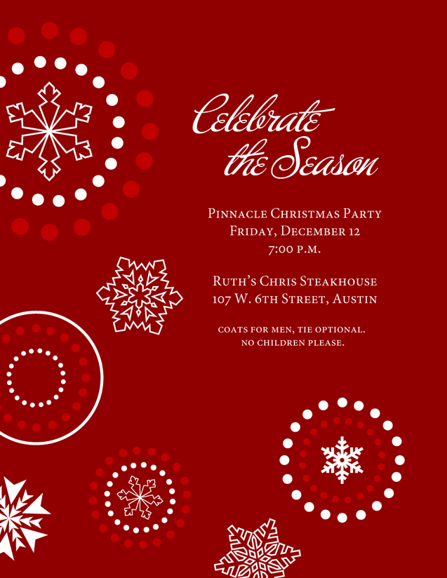 christmas party invitation templates trattorialeondoro - christmas card word template