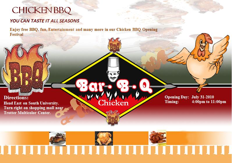 Chicken BBQ Flyer Template Graphics and Templates