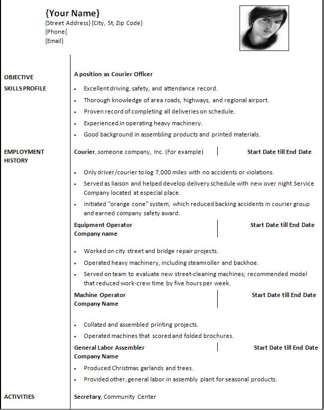 it resume template word 2010 29042017
