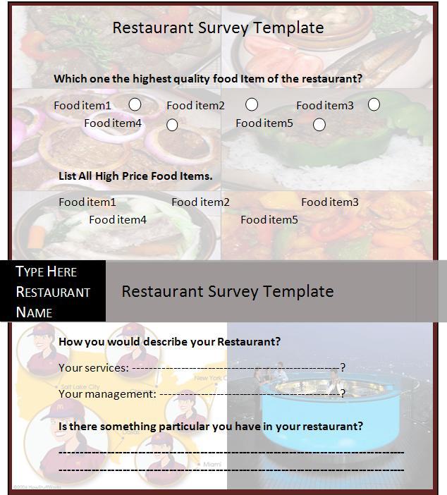 survey template word 2010