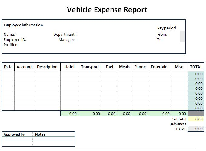 Expense Sheet Template Graphics and Templates - expense sheet
