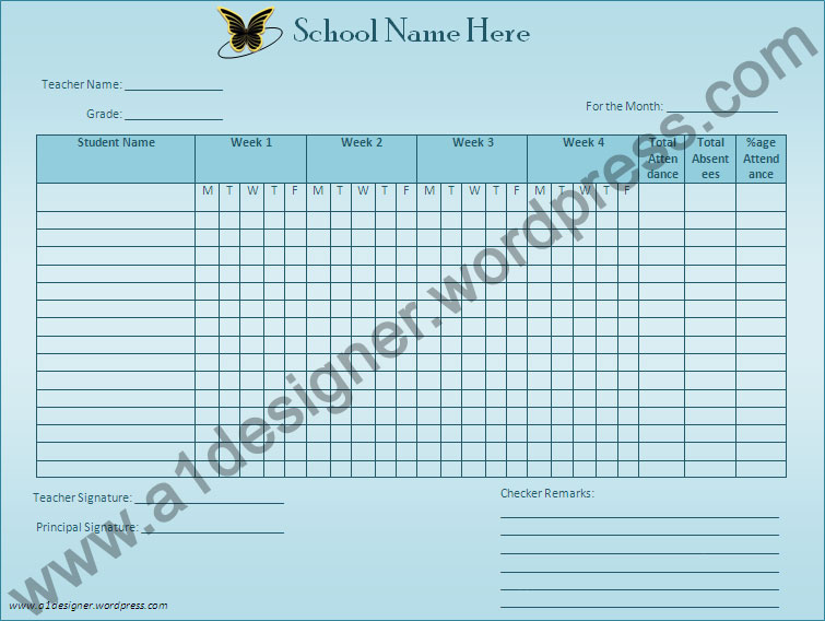 Attendance Sheet Template Graphics and Templates - attendance sheet template word
