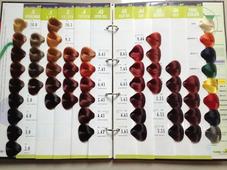 54 Colors Vb Salon Hair Color Chart - hair color chart