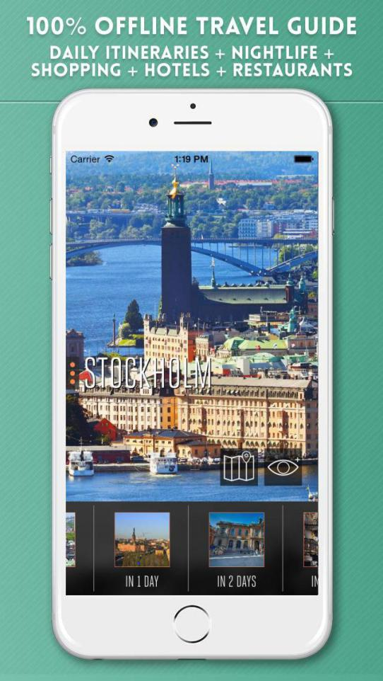 Stockholm Travel Guide with Offline City Street and Metro Maps iPhone