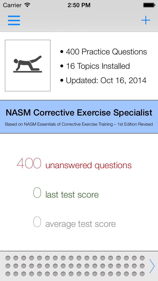 App Shopper NASM CES Test Questions  Answers (Healthcare  Fitness)
