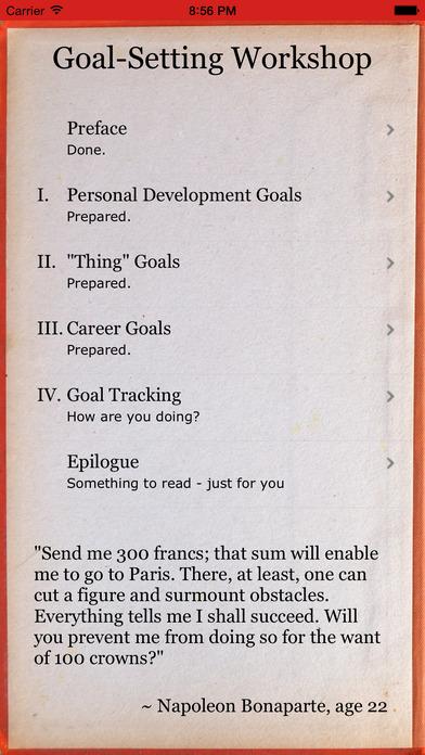 Goal Setting Workshop + Goal  Habit Tracker - Set Any List of Goals - list of career goals